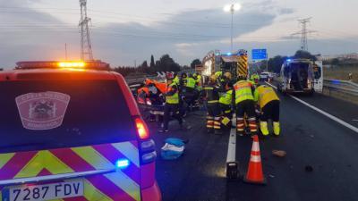 Cinco heridos en el accidente múltiple provocado por un kamikaze