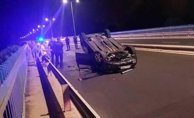 Accidente nocturno en el Puente del Príncipe de Talavera