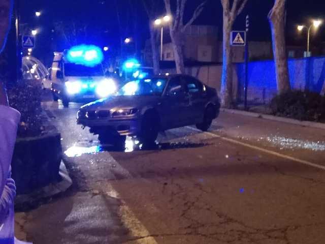 Accidente de tráfico en la calle Capitán Cortés