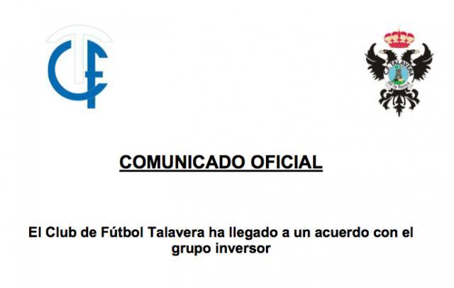 FÚTBOL | El CF Talavera confirma la información de La Voz del Tajo: HAY ACUERDO
