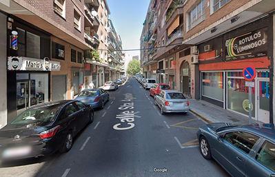 Calle Santa Agueda, junto a la Avenida de Pío XII