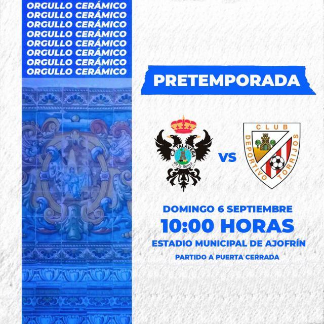 FÚTBOL | CF Talavera-CD Torrijos, mañana en Ajofrín