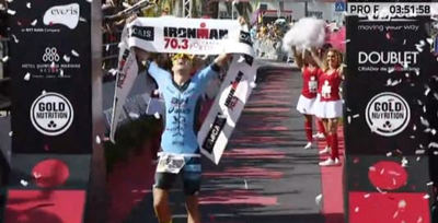 Triunfo de Alarza en su debut en el Ironman 70.3 de Cascais