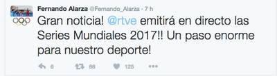 Alarza celebra la emisión en TVE de las Series Mundiales de Triatlón