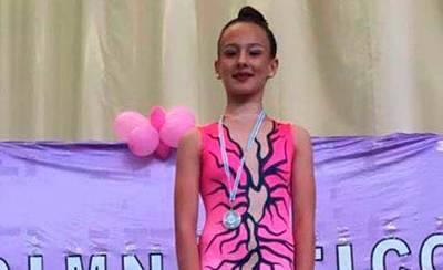 La gimnasta Andrea Bermúdez, medalla de plata en Argés