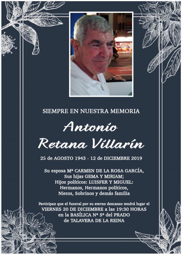 La Basílica del Prado acoge este viernes la misa funeral por Antonio Retana