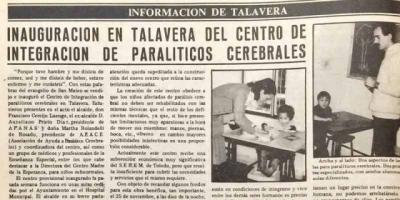 ¿Te acuerdas? | 40 años de la inauguración del centro de APACE Talavera