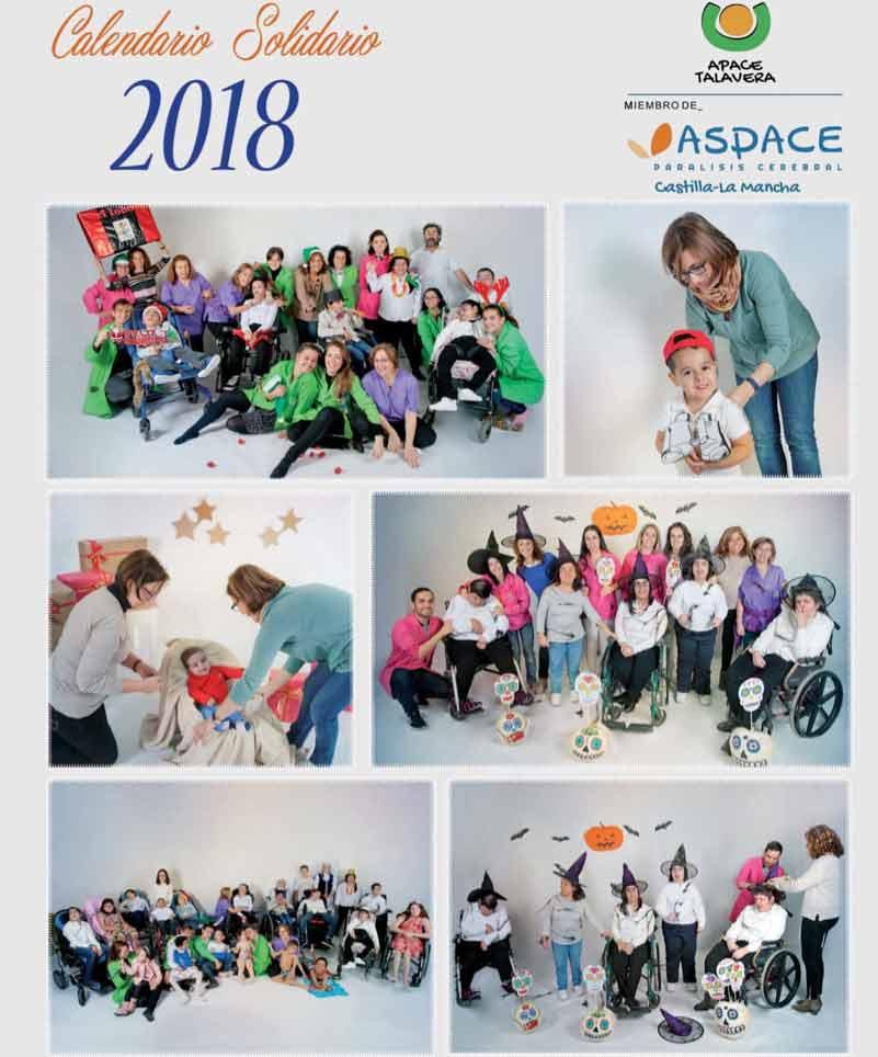 """APACE presenta su calendario 2018 """"Trabajando desde el corazón"""""""