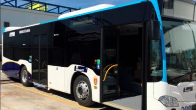 Uno de los autobuses urbanos de Talavera