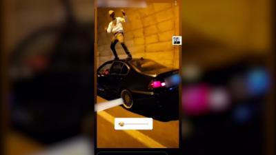 VÍDEO | Investigado por bailar encima del techo de un coche en marcha