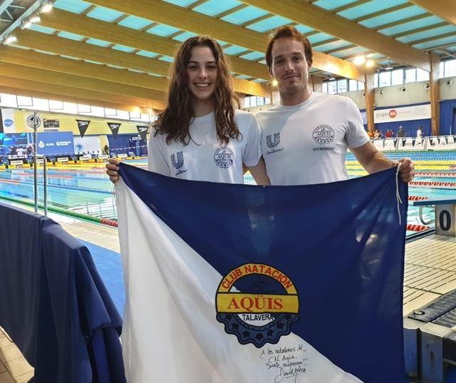 Berta de los Muros del C.N. Aqüis presente en el Campeonato de España