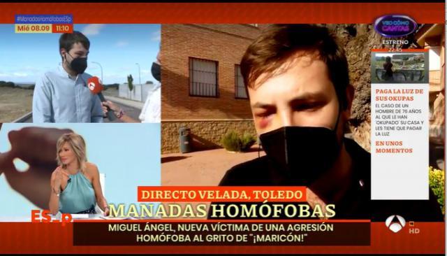 Migeul Ángel durante la entrevista en Espejo Público