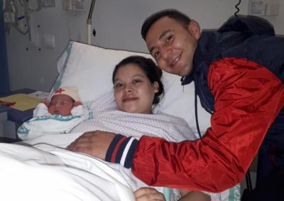 Jhoeline, primera bebé en nacer en Talavera en 2019