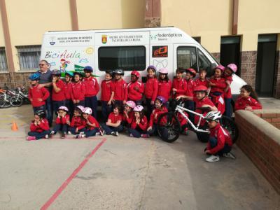 'BiciAula' ya ha pedaleado con 495 alumnos de Talavera y de la comarca