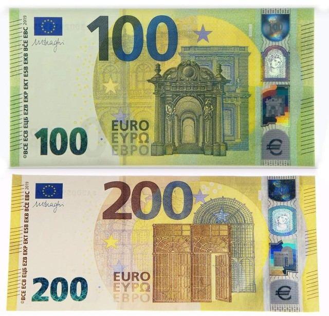 Estos son los nuevos billetes de 100 y 200 euros