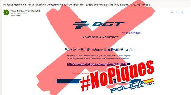ALERTA | Multas falsas de la DGT: cómo actuar ante esta estafa en internet
