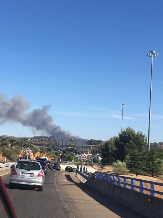Extinguido el incendio de Burguillos de Toledo