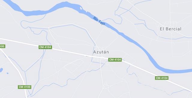 Captura de pantalla de Google Maps (Azután)