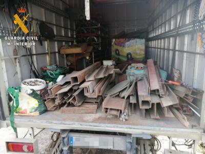 SUCESOS | Detenido por por robar material valorado en 25.000 euros durante el confinamiento