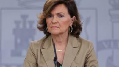 CORONAVIRUS | La vicepresidenta Carmen Calvo da positivo