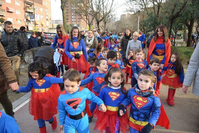 Los alumnos del 'Clemente Palencia' celebraron unos carnavales de superhéroes
