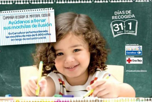 Carrefour y Cruz Roja promueven en Talavera la X edición de la 'Vuelta al Cole Solidaria'