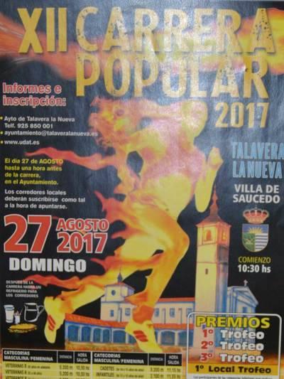Talavera la Nueva celebra la XII Carrera Popular 2017