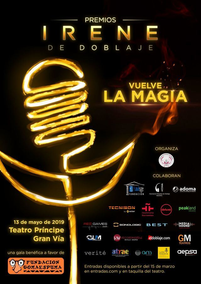 Los Premios Irene de Doblaje se consolidan y celebran su segunda edición