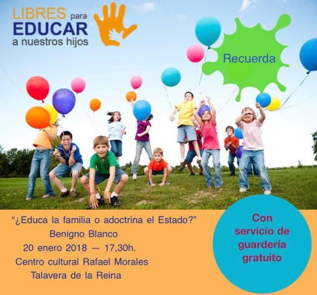 El Centro Rafael Morales acoge una conferencia titulada: '¿Educan las familias o adoctrina el Estado?'