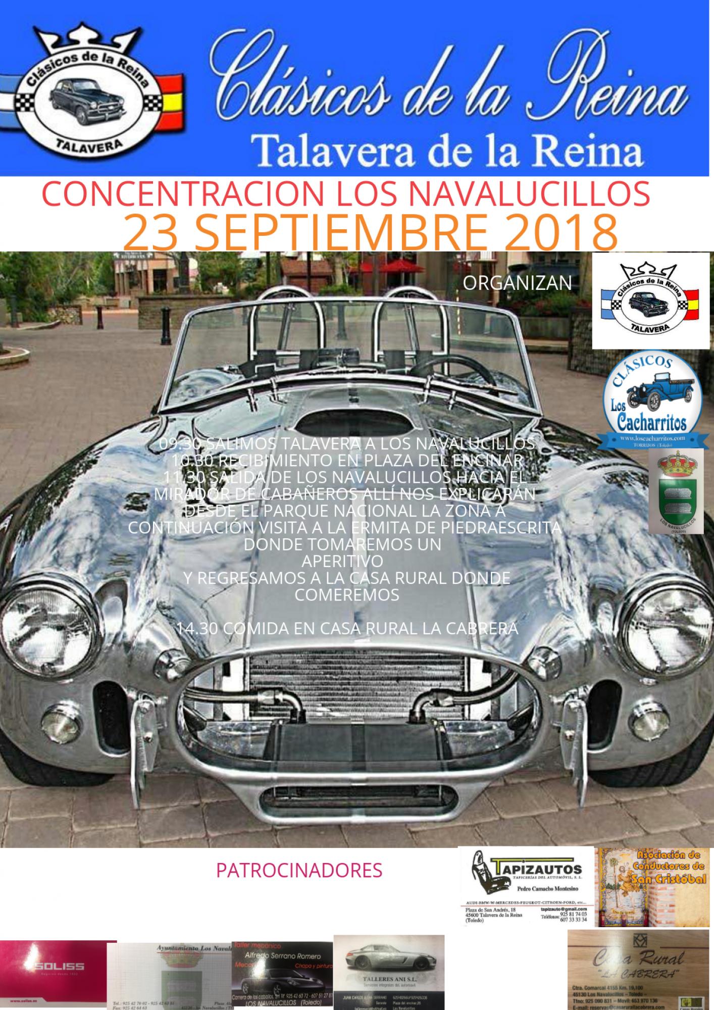 Los Clásicos de la Reina viajarán a Los Navalucillos para celebrar una multitudinaria concentración de coches