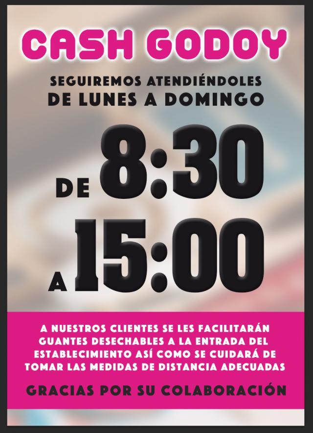 CORONAVIRUS | Horario y medidas de los supermercados Cash Godoy, Confía y Suma en Talavera