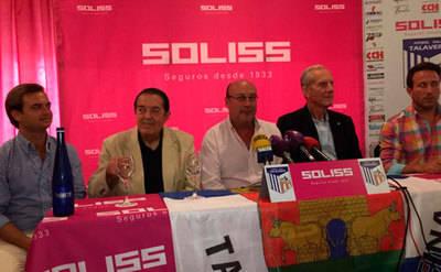 Castillo y Sedeño, en la presentación del partido de España