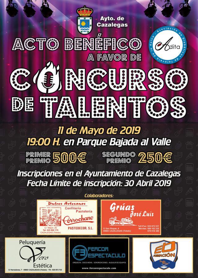 Abierta la inscripción para el concurso solidario de talentos de Cazalegas