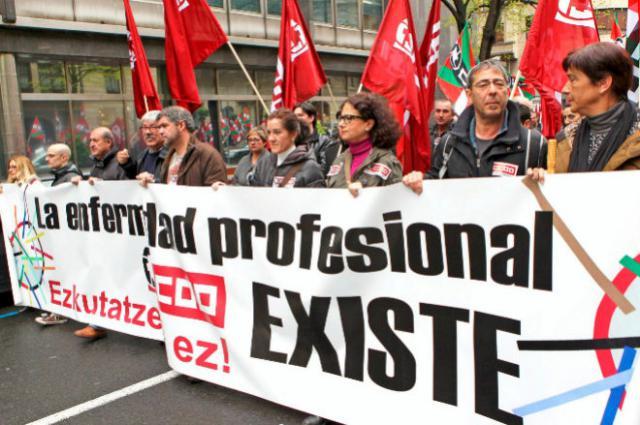 El sindicato denuncia la infradeclaración del cáncer de origen laboral.