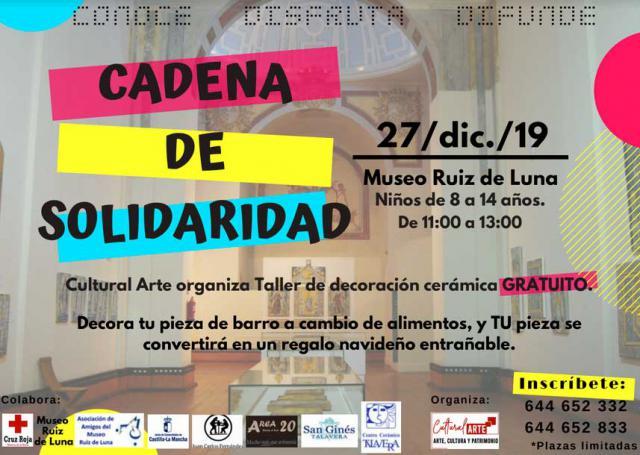 Taller solidario de cerámica en el Museo Ruiz de Luna de Talavera