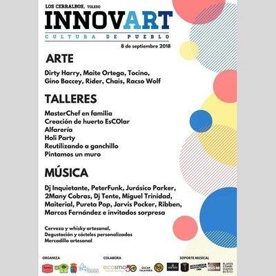 Arte urbano y tradición se dan la mano en el festival Innovart de Los Cerralbos