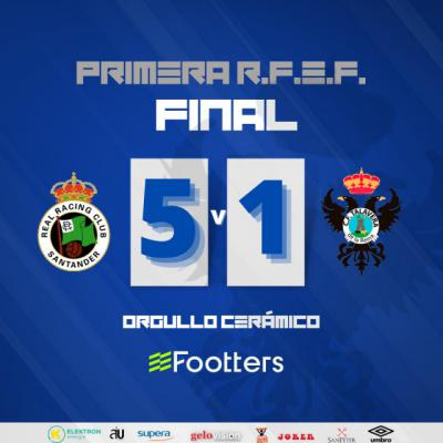 Dura derrota del CF Talavera contra el Racing de Santander