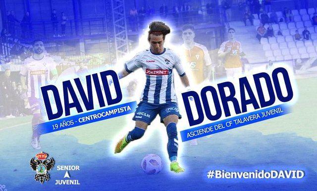 David Dorado con la camiseta del CF Talavera