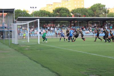 El CF Talavera se va al descanso con un gol a su favor