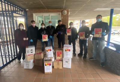 CORONAVIRUS | Más donaciones de la comunidad china: a la Policía Nacional y el Hospital de Talavera (vídeo)