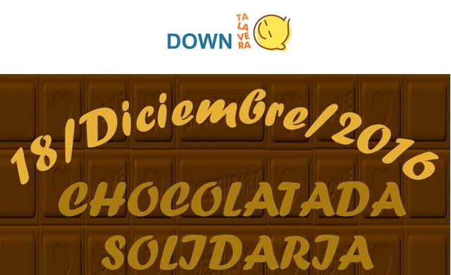 I Chocolatada Solidaria a favor de 'Down Talavera' este domingo 18