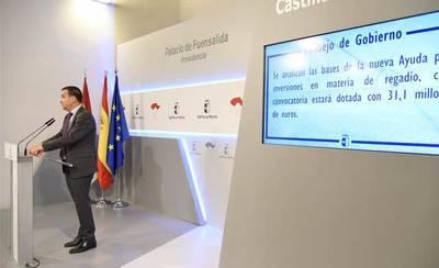 La Junta aprueba las ayudas para modernizar regadíos por 31,1 millones de euros