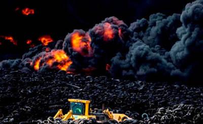 En libertad el detenido por el incendio de neumáticos de Seseña