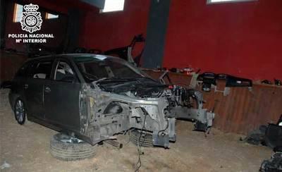 Desarticulado un grupo criminal dedicado al desguace y posterior venta de vehículos de alta gama
