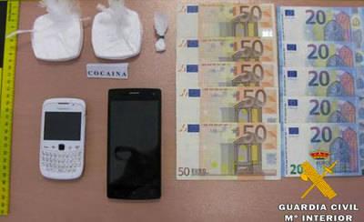 Dos detenidos con 1.030 dosis de cocaína previstas para su venta