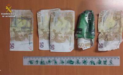 Detenido por intentar pagar con un billete falso de 50 euros