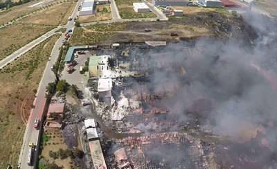 Europa investiga el incendio en la planta de reciclaje de Chiloeches
