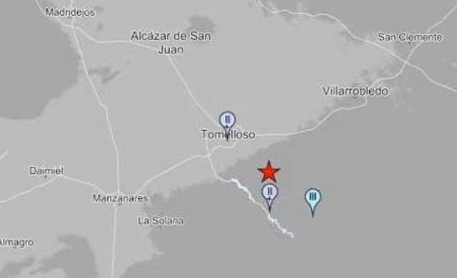 Un terremoto de 3,3 en Tomelloso afecta a Ciudad Real y Albacete