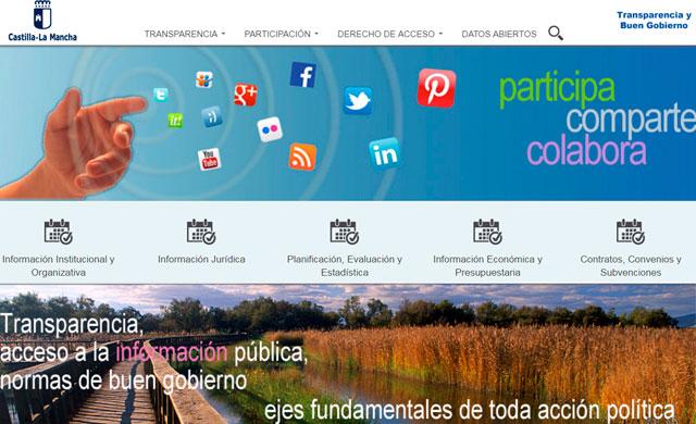 El Portal de Transparencia de C-LM recibió durante 2016 más de 36.000 visitas