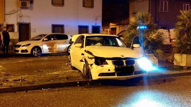 Aparatoso accidente de tráfico en la Avenida Pío XII de Talavera